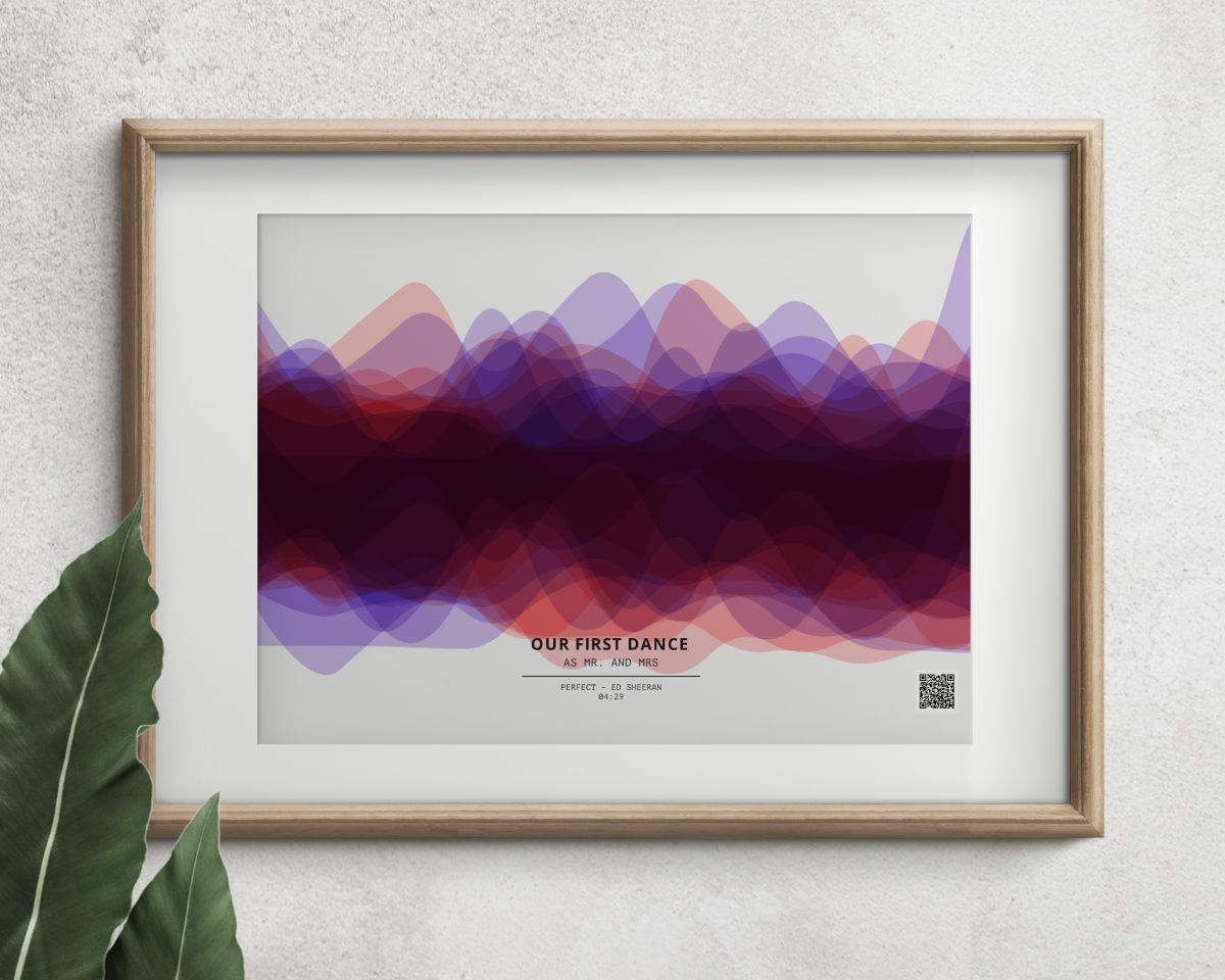 THAT VERY SONG SOUND WAVE ART PRINT